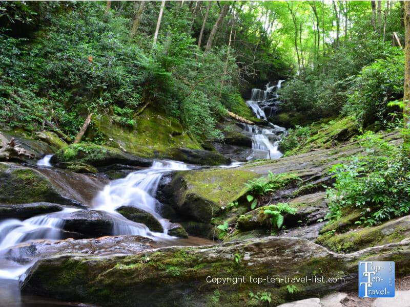 Roaring Fork Falls in Western North Carolina