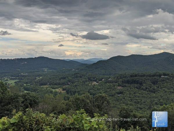Sleepy Gap overlook along the Blue Ridge Parkway in Western North Carolina