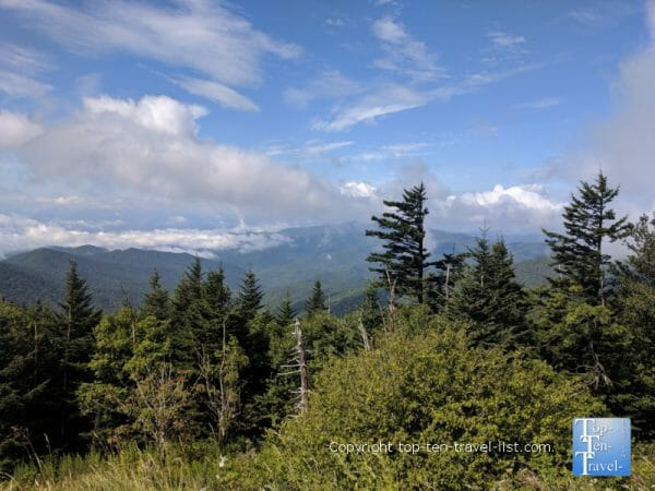 Amazing views of the Smoky Mountains from Clingman's Dome in Tennessee