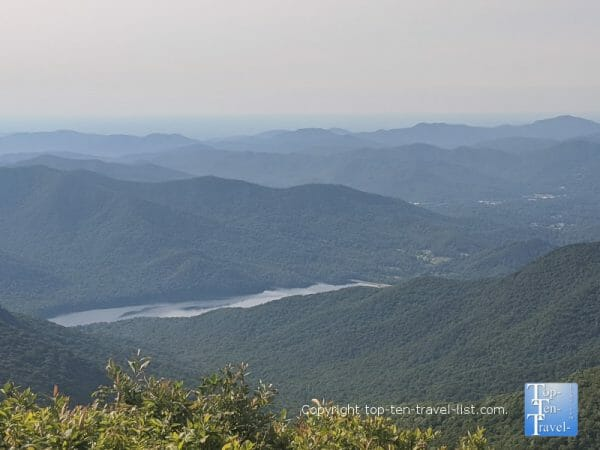 Gorgeous mountain views from the summit of Craggy Pinnacle along the Blue Ridge Parkway