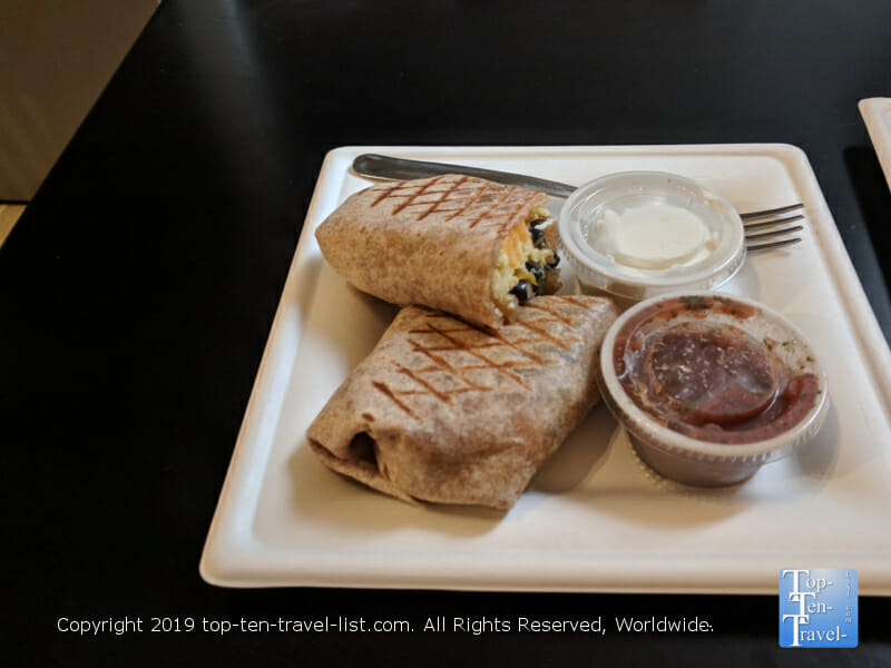 Breakfast burrito at Well Bred Bakery in Asheville, North Carolina