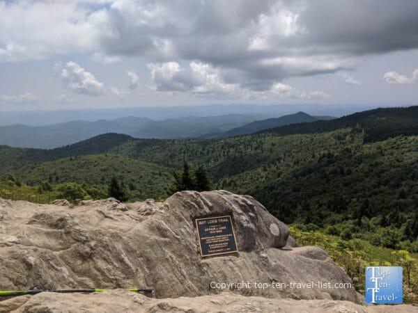 Black Balsam summit overlook in Western North Carolina