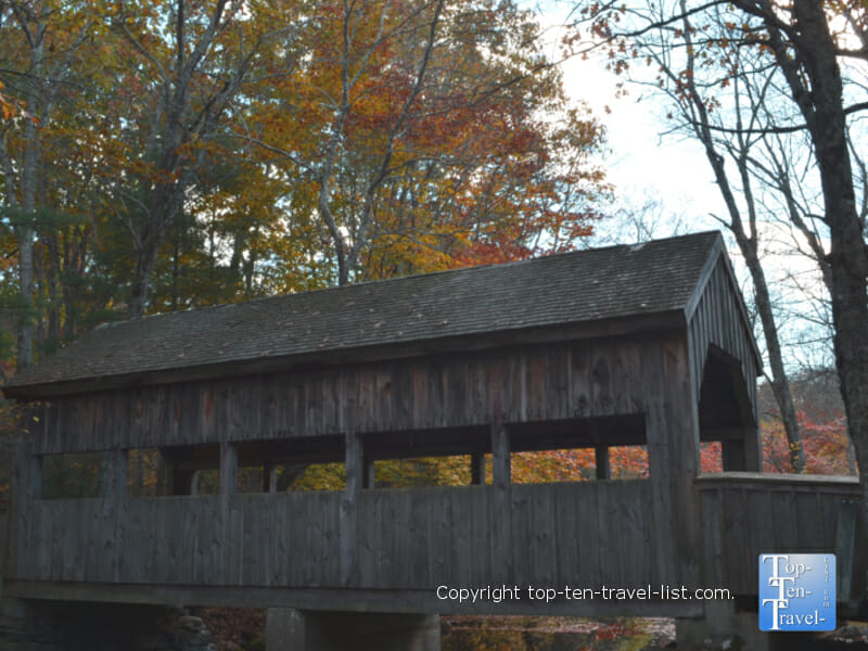 Covered bridge at Devil's Hopyard State Park in East Haddam, Connecticut