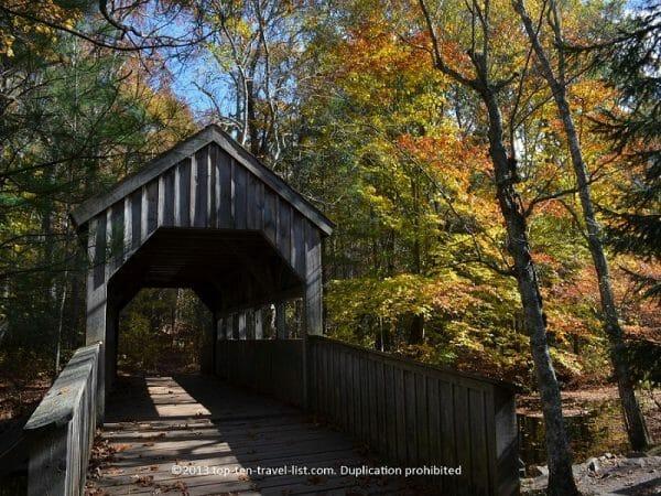 Devil's Hopyard State Park covered bridge in East Haddam, Connecticut