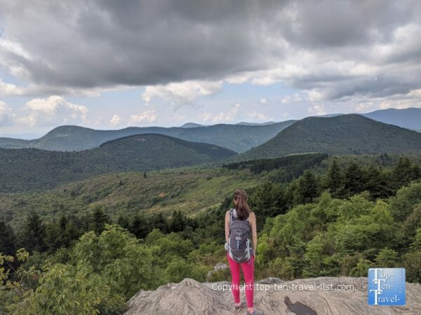 Gorgeous mountain overlook along the Black Balsam Knob trail in Western North Carolina