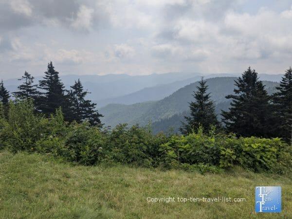 Beautiful mountain scenery at the Haywood Jackson overlook along the Blue Ridge Parkway