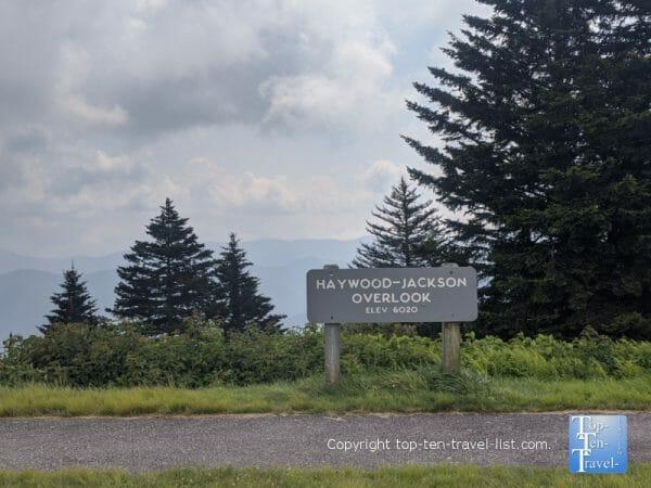 Haywood Jackson overlook along the Blue Ridge Parkway