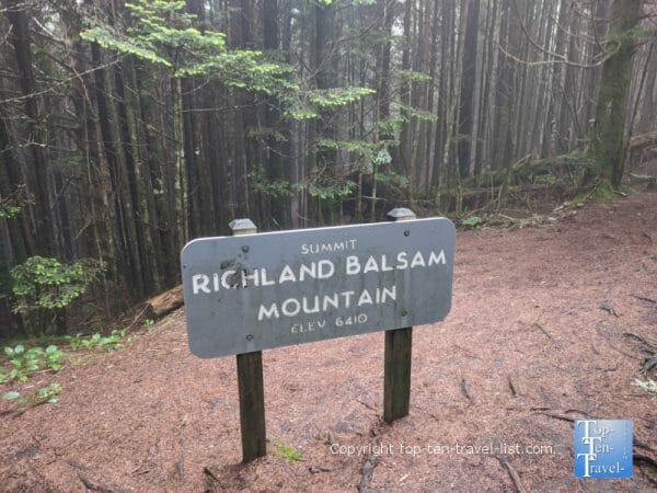Hiking to the summit of Richard Balsam on the Blue Ridge Parkway in North Carolina