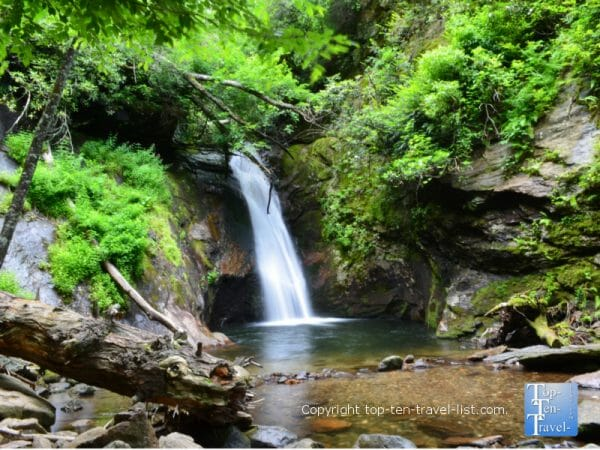 Courthouse Falls in Western North Carolina