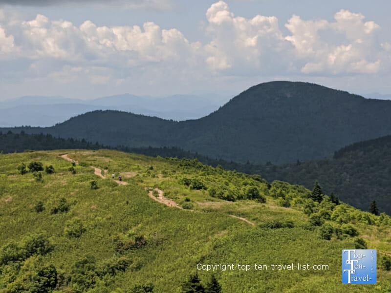 Beautiful hike along Black Balsam Knob in Asheville, North Carolina