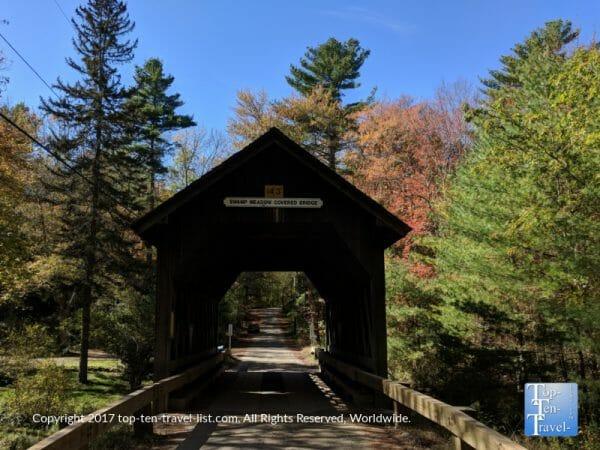 Swamp Meadow Covered Bridge in Foster, Rhode Island