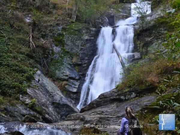 Toms Creek Falls in Western North Carolina