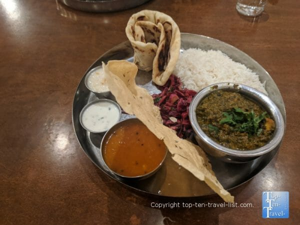 Vegetarian Thali at Chai Pani in Asheville, North Carolina