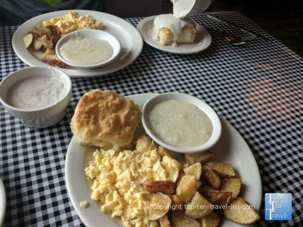 All-you-can-eat country breakfast the Moose Cafe in Asheville, North Carolina