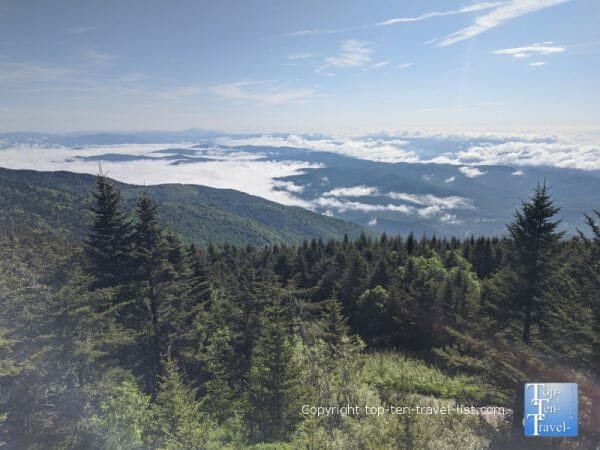 Beautiful mountain scenery at Mt. Mitchell State Park in Western North Carolina