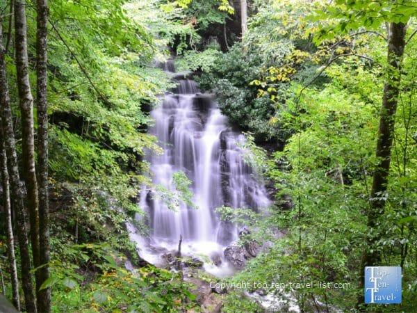 Beautiful Soco Falls in Cherokee, North Carolina