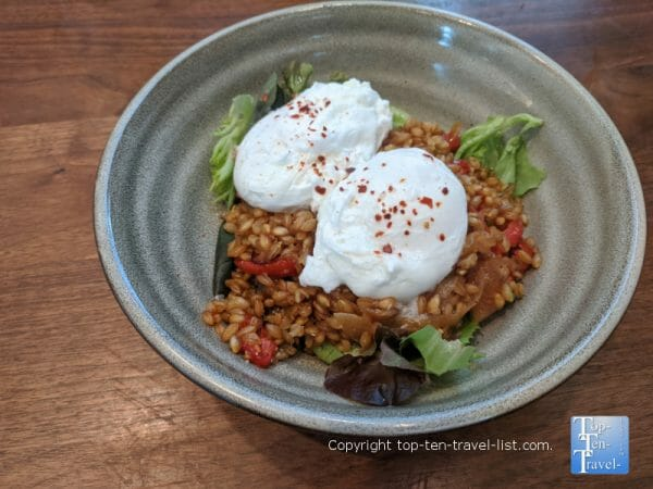 Breakfast bowl at Bargello in the Kimpton in Asheville, NC