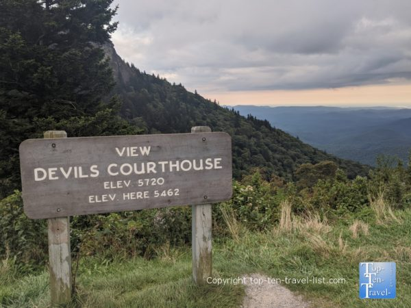 Devil's Courthouse overlook on the Blue Ridge Parkway in North Carolina