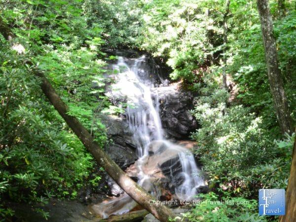 Log Hollow Falls in Western North Carolina