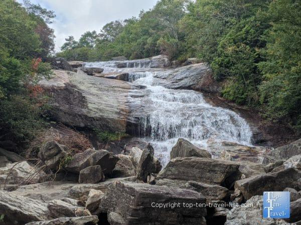 Lower Graveyard Field Falls along the Blue Ridge Parkway in North Carolina