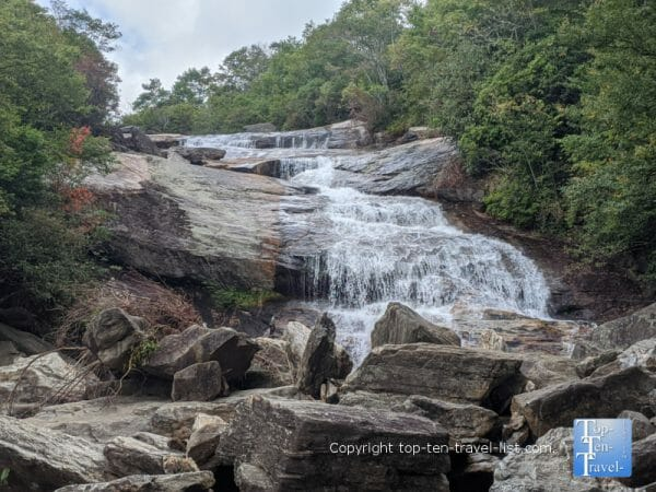 Second Falls along the Graveyard Fields hiking trail on the Blue Ridge Parkway