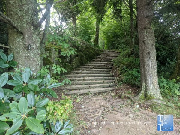 The beautiful Bucks Springs trail along the Blue Ridge Parkway in North Carolina