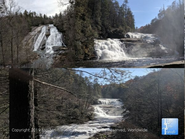 Triple Falls hike in the Dupont State Forest in North Carolina