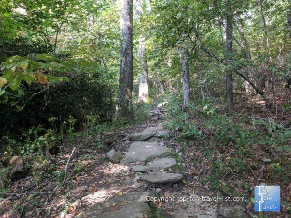 Hiking the Flat Rock trail on the Blue Ridge Parkway in Western North Carolina