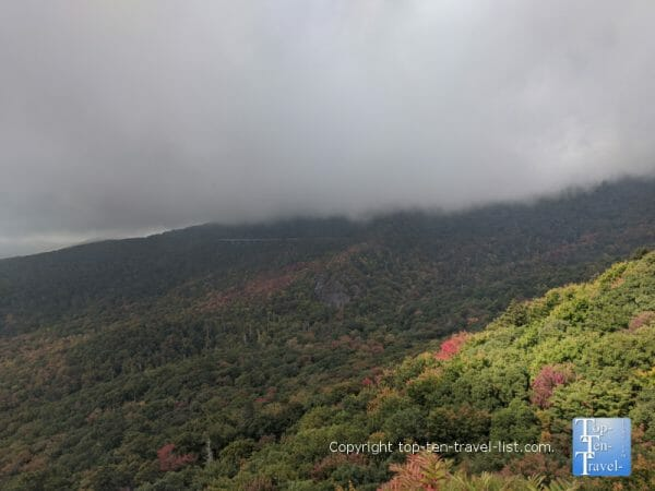 Great views from the Rough Ridge summit trail along the Blue Ridge Parkway in Western North Carolina