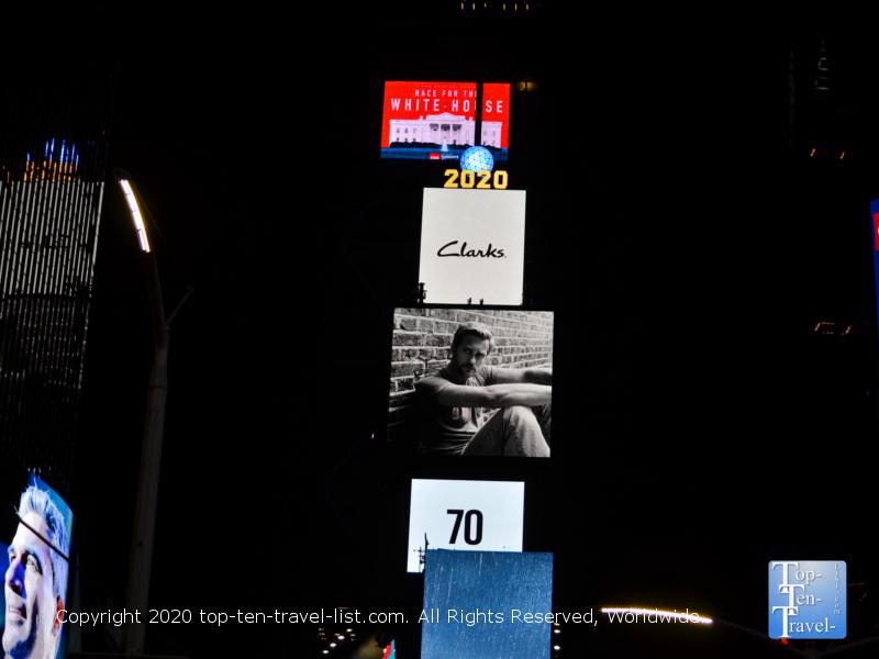 Walk around Times Square at night