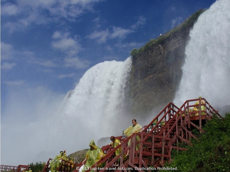 Book tickets for the Cave of the Winds experience at Niagara Falls