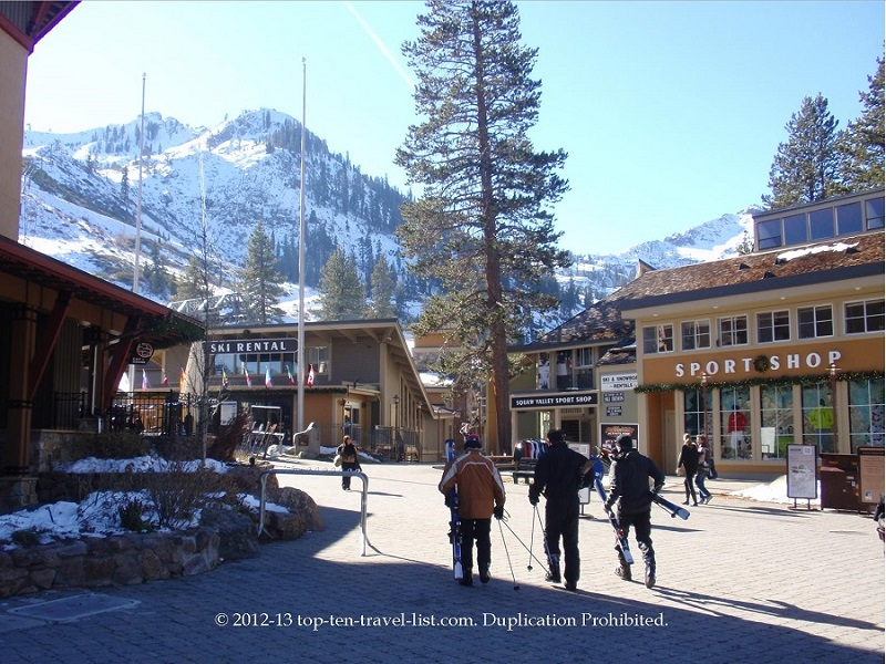 Browse the shops at the Village at Squaw Valley