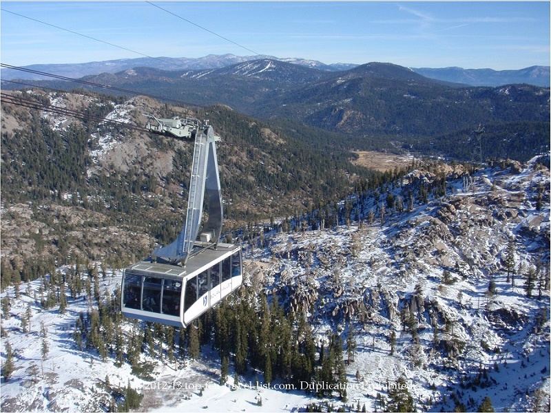 Enjoy dramatic views on the aerial tram ride at Squaw Valley