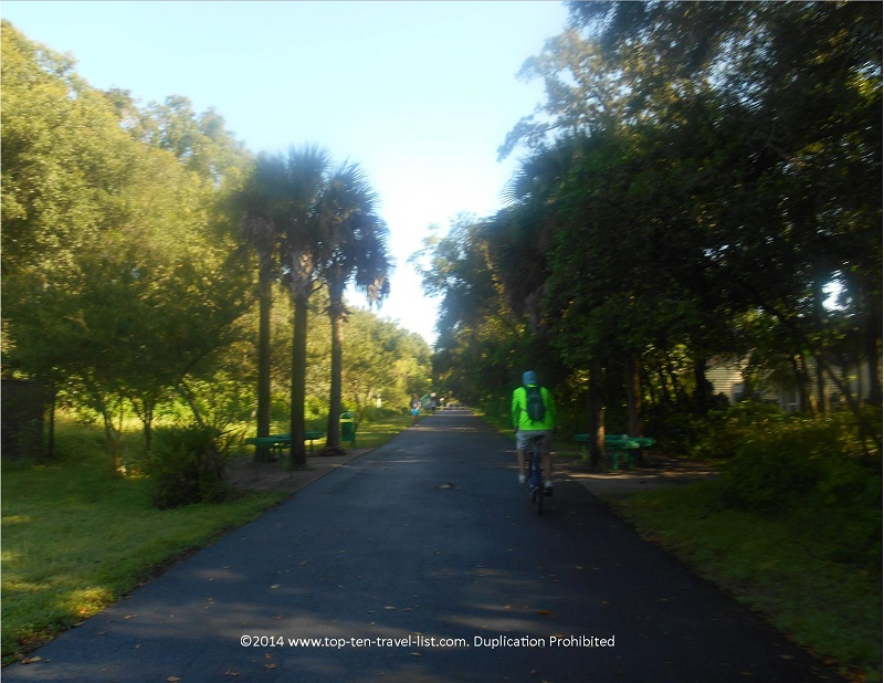 Enjoy a quiet bike ride along the Upper Tampa Bay Trail