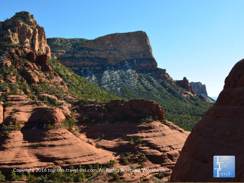 Take in panoramic views of Sedona's red rock formations along Broken Arrow Trail