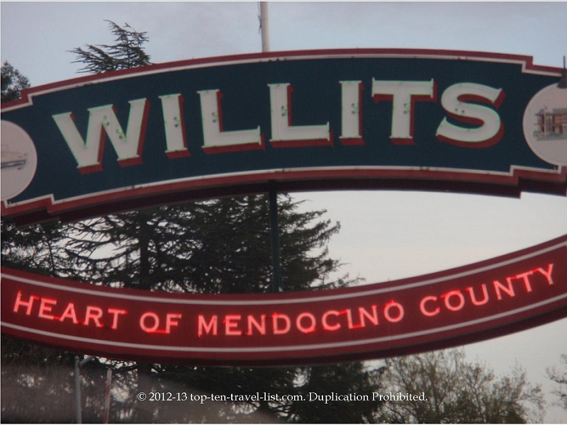 Spend the night in Willits
