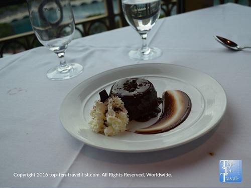 Fudge Chocolate Cake at The Eiffel Tower Restaurant