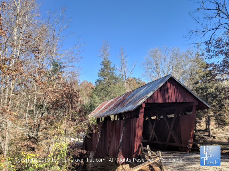See the last remaining covered bridge in the state