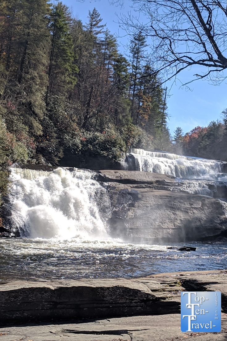 Hike the Triple Falls trail at Dupont State Forest