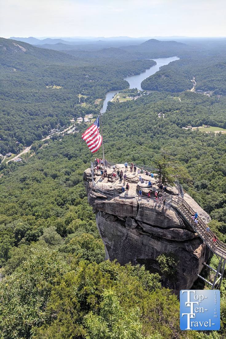Climb to the top of Chimney Rock